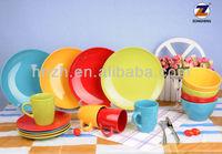 16pcs ceramic china cheap used restaurant dinnerware set