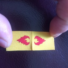 fire retardant printed label for fire safety code