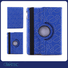 Fashion rhinestone tablet case 360 degree rotate case for ipad