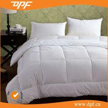 100% cotton plain white higher standard white microfiber quilt