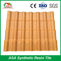 Waterproof performance corrugated pvc plastic synthetic resin roof tile