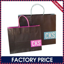 Factory price custom made colorful printing kraft paper bag with window