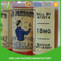 colored pvc printed heat shrink clear waterproof labels/shrink sleeves bottle label/shrink label manufacture