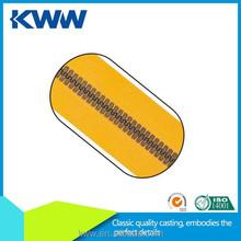 7#8# Plastic Anti Brass Teeth zipper plastic pencil case with zipper