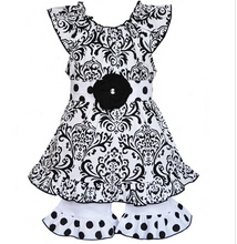 New Style summer new design dress sleeveless outfit ruffle pants sets