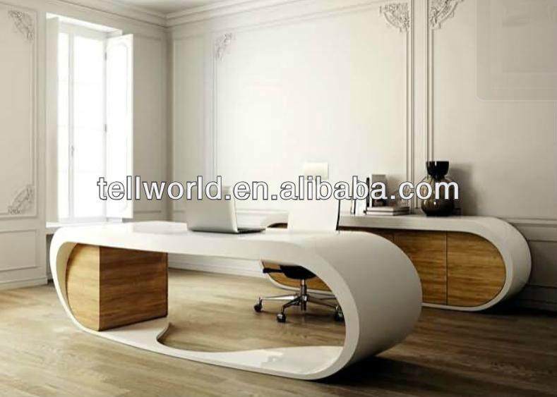 Oval de m rmol artificial mesa presidente escritorio de for Muebles de oficina jovalu