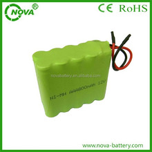Rechargeable nimh aaa 12v 800mah battery pack