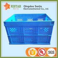 plastic collapsible colorful storage tool box/plastic basket/multipurpose plastic box cheap tool kit