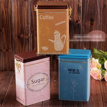 metal tin box food container packaging with wire lock