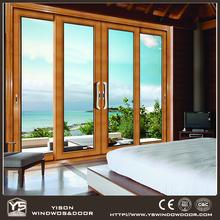 Aluminum Wood Door Lift Sliding Glass Patio Doors 4 Panel