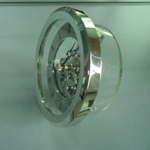 Golden /silver metal quartz skeleton clock movement