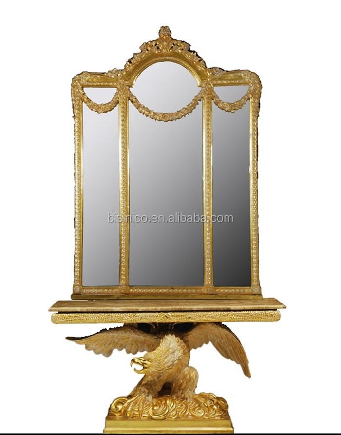 Bisini luxe ontwerp majestic eagle stand console tafel en grote spiegel set vergulde console - Decoratie tuin exterieur ontwerp ...