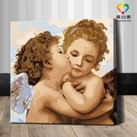 boy and girl oil painting by number hot nude kids