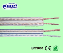 Professional Shenzhen factory 12/14/16AWG CCA 100m/roll PVC insulation transparent speaker cable