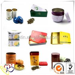 Manufacture metal tea box / free sample alibaba china tin supplier proveedor china