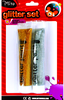 gold glitter glue for Paper Art, Kids Drawing, Double Color Glue
