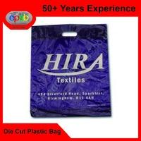Promotional Brand Die Cut Punch Plastic Bag