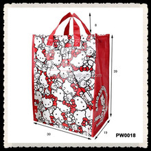 2015 BOPP Wholesales Promotional Matte And Glossy Lamination PP Woven Shopping Bag
