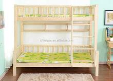 full size Shanghai cheap pine wood bunk bed
