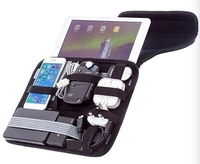 "Portable 10.2"" tablet case with tech organizer"