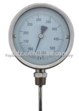 parte inferior de las ss uso de líquido termómetro bimetálico
