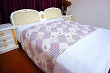 Patchwork printed & embroidery 100% cotton quilt