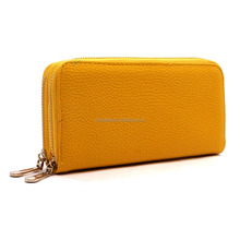women leather wallet/zip around wallet/ double zip wallet