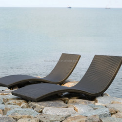 special design rattan sun bed/ outdoor furniture/ sun lounger