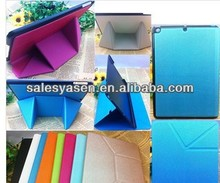 8 Folding transformer leather case for IPAD mini 2 cover
