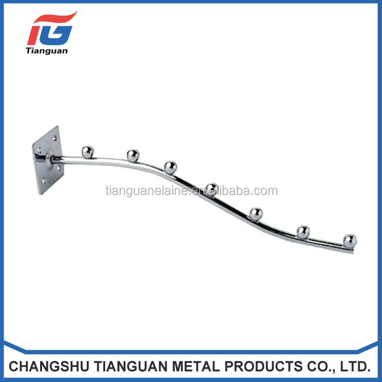 أنواع مختلفة من معدن الكروم slatwall عرض خطاف