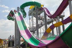 Aqua Park Fiberglass Water Slides Boomerang Skateboard For Adult
