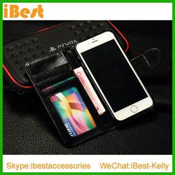 iBest Luxury wallet pu leather case for iphone 6 4.7inch phone 6 case