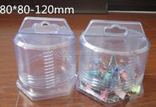PVC telescopic plastic box 80*80-120mm