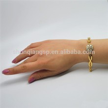 Love Promise 22k Real Gold Plated Crystal Bracelet for Women payment asia alibaba china