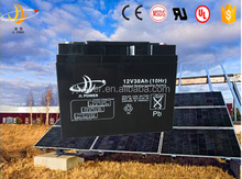 Valve regulated lead acid AGM battery 12v38AH solar/UPS/inverter/controller/electrical bike battery 12v38AH