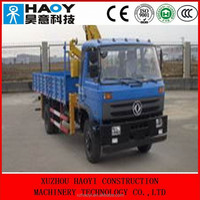 DongFeng middle-sized 4*2 crane truck EQ5160 for sale