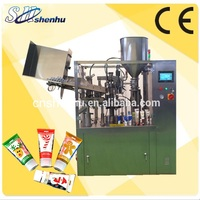 shanghai shenhu automatic 2 or 3colour toothpaste filler and sealer