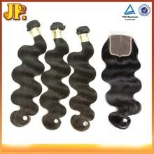 JP Hair Hair Bundles With Closure 5A 6A 7A 8A 10A Wholesale Brazilian Virgin Hair