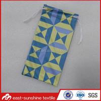 custom logo print microfiber offset printing pouch,microfiber eyeglasses cleaning pouch bag