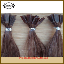 Grade AAAAAA 100% Human Hair Pre-bonded V Tip Hair Extensions For Lady