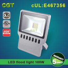 UL DLC CE Rohs LED flood light 100W Meanwell driver 3years warranty