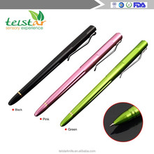 Telstar Q8001 colorful aircraft aluminum top grade business writing pen /mental felt-tip pen with ballpoint pen refills