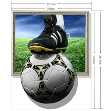 3D Sports Rugby Football Player Window Wall Sticker