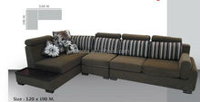 black fabric sofa, fabric sofa with adjustable headrest , fabric l-shape sofa