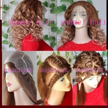 2015 New Products Healthy #3 Lace Grow Hair Unprocessed Virgin Indian Women Hair Wig