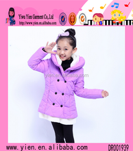 2015 Korean Style Sunshine Princess Girl Overcoat Thicken Warm Button Design Pictures Of Baby Winter Cothes