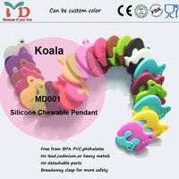 China Supplier New Product Non-Toxic 100% Food Grade Silicone Rubber Teether Wholesale