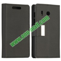 Litchi Texture Flip Stand Leather Cover for Huawei Ascend Y300 With Magnetic Buckle
