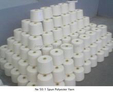 100% Spun Polyester Yarn , Auto coned , Spliced