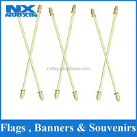 2015China professional hand flag wood pole manufacturer